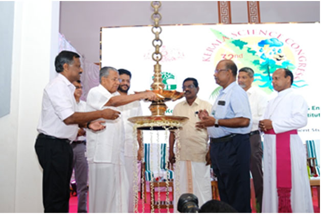 Hon'ble Chief Minister lighting the lamp
