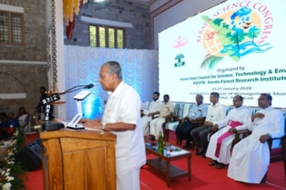 Chief Minister addressing the audience